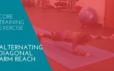 Core Training Exercise – Alternating Diagonal Arm Reach
