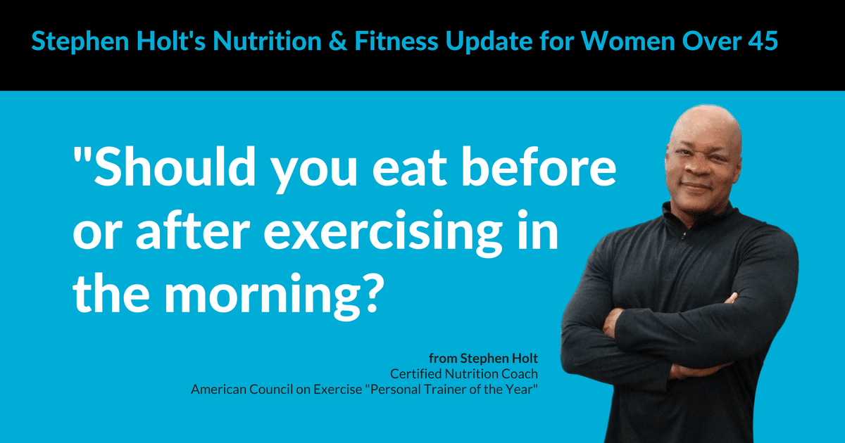 Should You Eat Before or After Exercising in the Morning